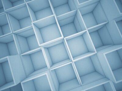 Картина 3d абстрактный фон куб