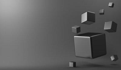 Картина 3D фон металла кубов