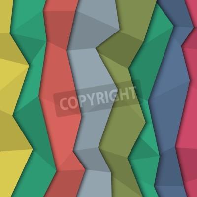Картина 3d фон цветной бумаги - оригами стиль.