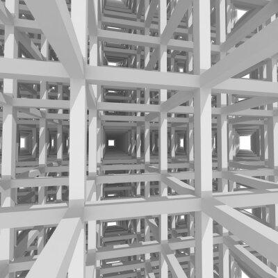 Картина 3d колонн и балок, архитектура фон.