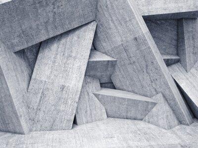 Картина 3d геометрическая стена