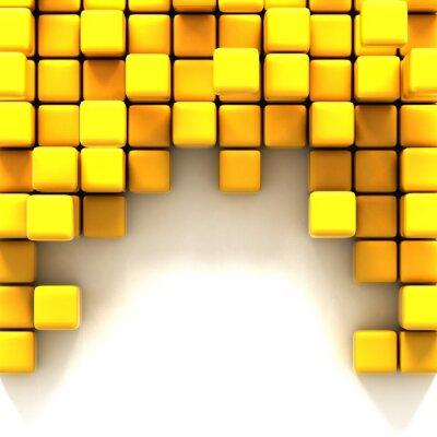 Картина 3D иллюстрации желтый кубов,