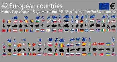 Картина 42 европейских стран