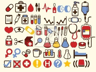 50 + медицины и здравоохранения Иконка - векторный файл EPS10