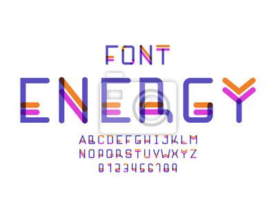 6403934 Энергетический шрифт. Векторный алфавит