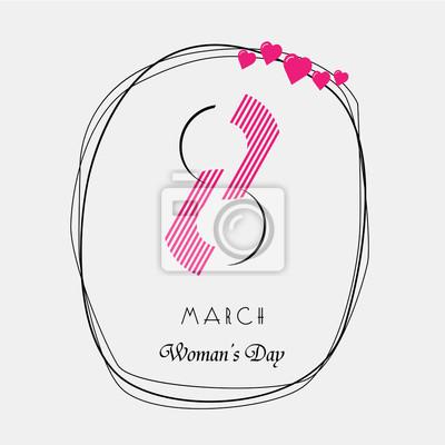 8 Марта. Международный женский день. Vector EPS 10.