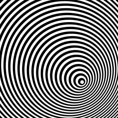 Картина Черный и белый оптическая иллюзия