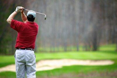 Картина Человек, наслаждаясь игрой в гольф