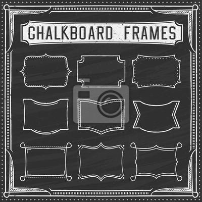 Набор кадров Классная доска - элементы дизайна - Иллюстрация