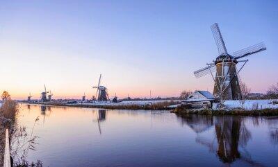 Картина Зимнее утро в Нидерландах