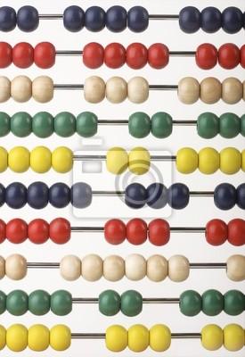Abacus caclulator с цветными бусами