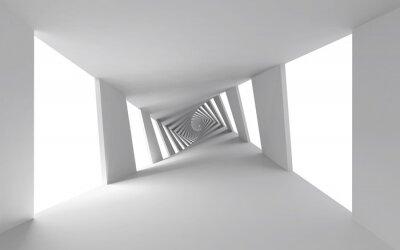 Картина Абстрактный 3d фон с белым витой спиральной коридора
