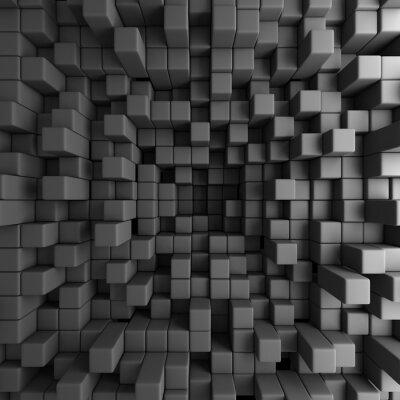 Картина Аннотация 3D кубов Блоки обои предпосылки