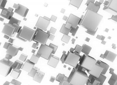 Картина Абстрактный 3d цифровой cubesisolated на белом фоне