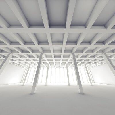 Картина Абстрактный архитектура, пустой белой комнате 3 d