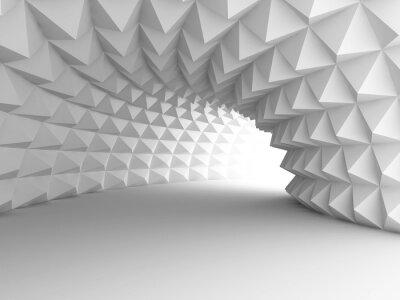 Картина Аннотация Архитектура туннель светлом фоне