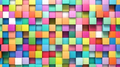 Картина Абстрактный фон из разноцветных кубиков
