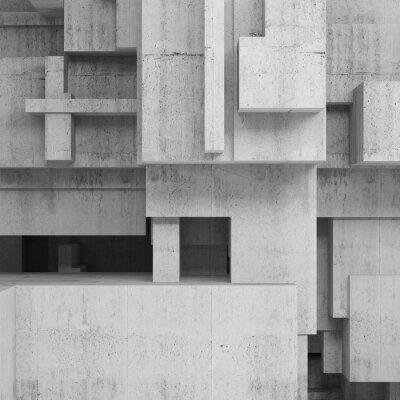 Картина Абстрактные бетонные конструкции, квадратный фон