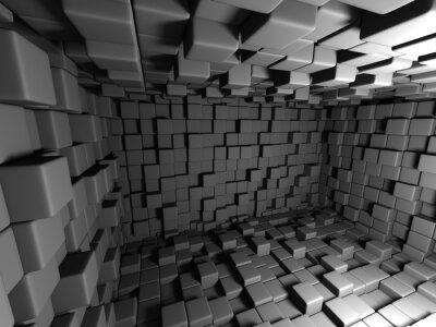 Картина Абстрактный фон темные кубы стена номер