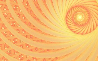 Картина Аннотация фантазии вихрь туннель с нежными линиями персика