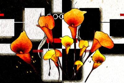 Картина Абстрактный цветок живопись маслом