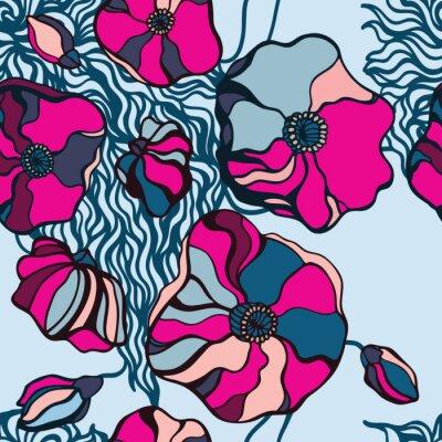 Картина Абстрактный цветы фон. Бесшовные