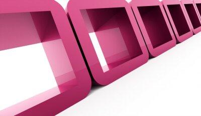Картина Абстрактные геометрические кубы концепция визуализации