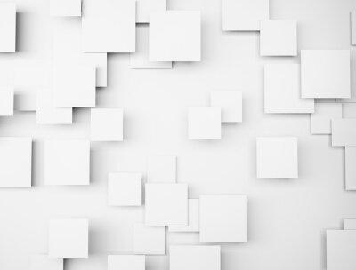 Картина Абстрактные геометрические формы 3d белых кубов