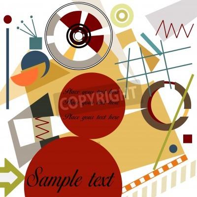 Картина Аннотация геометрический фон; Мастер Кандинский стиль
