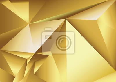 Абстрактный золотой геометрических фон. 3d многоугольной текстуры.
