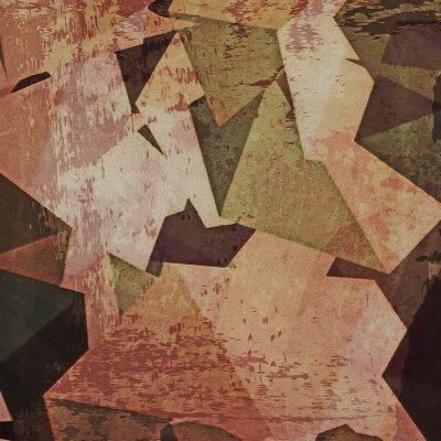 Картина Абстрактный фон гранж стену, кубизм
