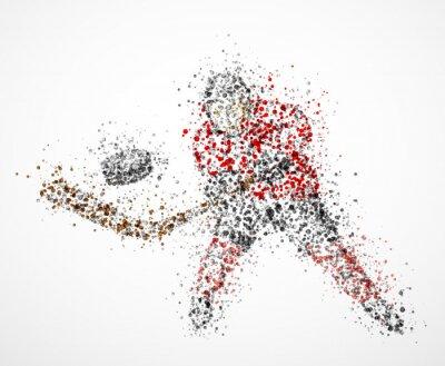 Картина Аннотация хоккеист