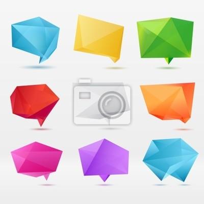 Аннотация оригами речи пузырь вектор фон
