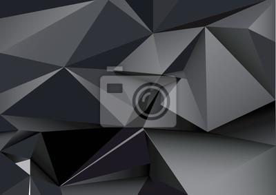 Абстрактный многоугольной черный кристалл фон. Низкий поли векторные иллюстрации. 3d многоугольной текстуры.