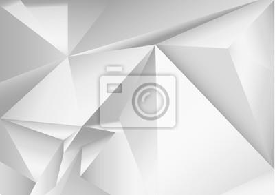 Абстрактный многоугольной серый кристалл фон. Низкий поли векторные иллюстрации. 3d многоугольной текстуры.