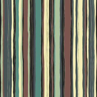 Картина Абстрактный ретро цвета полосы шаблон. Бесшовные рисованной линии