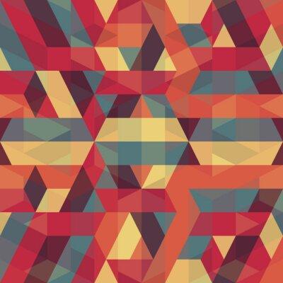 Картина абстрактные ретро геометрический узор