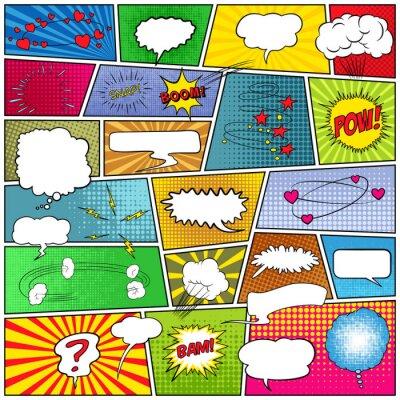 Картина Абстрактный набор комических шаблона