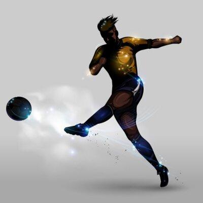 Картина Аннотация футбол стрельба питания