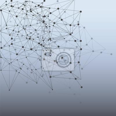Абстрактные треугольники пространство низкополигональная. Белый фон с соединительными точками и линиями. Легкая структура соединения. Многоугольная фон вектор. Футуристический HUD.