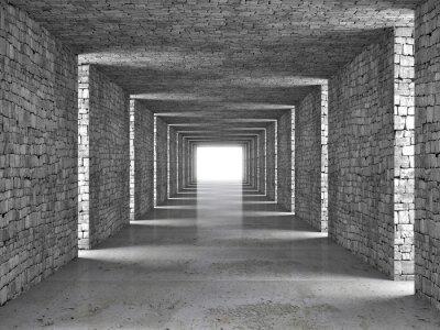 Картина абстрактный тоннель