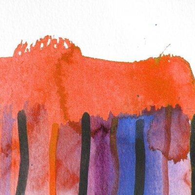 Картина абстрактные акварель фона дизайн