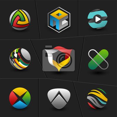 Абстрактные веб-иконки и мира векторные логотипы