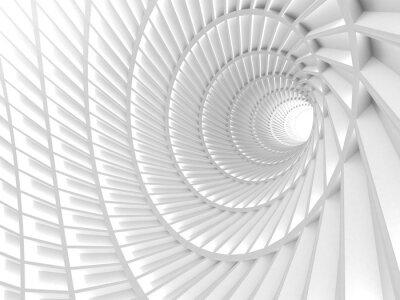 Картина Абстрактный фон белый тоннель отверстие