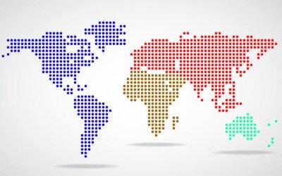 Картина Абстрактный карта мира круглых точек