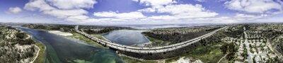 Картина Aerial Panoramic of Batisquitos Lagoon in Carlsbad, California, USA.