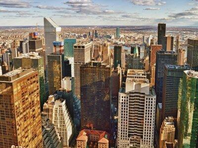 Картина Вид с воздуха Нью-Йорка.