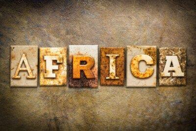 Картина Africa Concept Letterpress Leather Theme