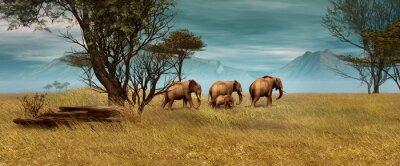 Картина African Elephants, 3d CG