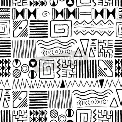 Картина Африканский этнической картины - коренного фона искусства. стиль дизайна Африка.